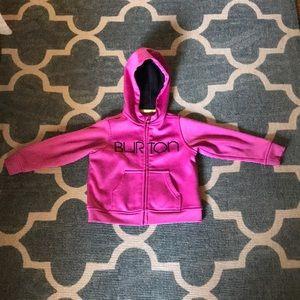 2T girls Burton zip up hoodie